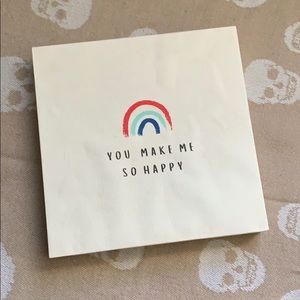 PAPER DESTINY Happy Rainbow Sign NEW